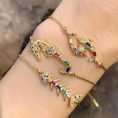 Unique Gorgeous Alloy With CZ Cubic Zirconia Bracelets