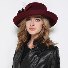 Ladies ' Elegant Akryl/uld blanding Bowler / Cloche Hat
