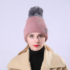 Señoras' Moda/Elegante Madera/Acrílico Gorrita tejida / holgado