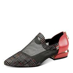 Femmes PU Talon bottier Escarpins À bout ouvert avec Ouvertes chaussures