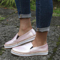 Women's Real Leather Flat Heel Flats With Others shoes