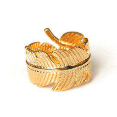 Leaves Shaped Brass Women's Rings