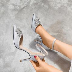 Femmes Pailletes scintillantes Talon stiletto Sandales Escarpins avec Strass chaussures