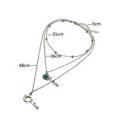 Atrakcyjny Warstwowe Stop Z Klejnot Księżyc Naszyjniki (Zestaw 3)