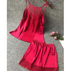 V-Neck Sleeveless Solid Color Stylish Cami & Short Sets