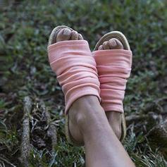 Kvinder Stof Flad Hæl sandaler Fladsko Kigge Tå med Andre sko