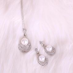 Fashionable Alloy Rhinestones Imitation Pearls Ladies' Jewelry Sets