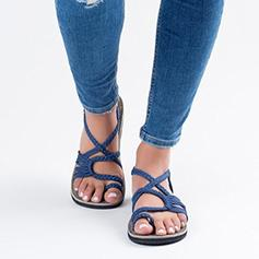 Women's Fabric Flat Heel Sandals shoes