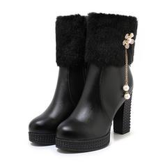 Бокові черевики Чоботи середньої довжини з Блискавка Кисточки з ниток взуття