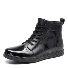 Lace-up Casual Leatherette Men's Men's Boots