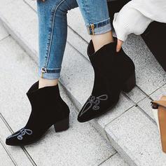 Femmes PU Talon cône Bottes mi-mollets avec Autres chaussures