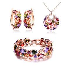 Świecący Cyrkon Miedź Dla kobiet Zestawy biżuterii