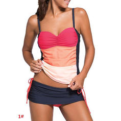 Stripe Strap Sexy Plus Size Tankinis Swimsuits