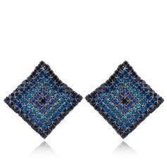 Stylish Alloy Rhinestones With Rhinestone Women's Fashion Earrings
