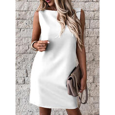 Solid Sleeveless Sheath Above Knee Sexy/Party Dresses
