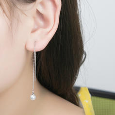 Fashionable Imitation Pearls Copper With Imitation Pearl Women's Fashion Earrings (Sold in a single piece)