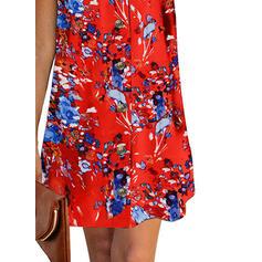 Print/Floral Sleeveless Shift Above Knee Casual/Boho/Vacation Dresses