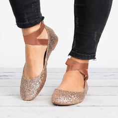 Kvinder Ruskind Flad Hæl sandaler sko