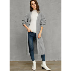 Solid Striat Comod Lungi Largi Cardigan