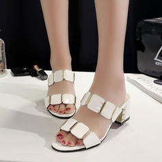 Women's PU Chunky Heel Sandals shoes