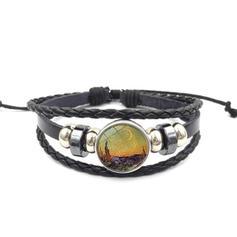 Einzigartig Sexy Exotisch Legierung Lederseil Glas Armbänder