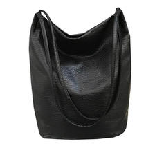 Women's Casual High Capacity Travel PU Shoulder Bags