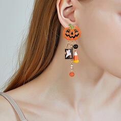 Halloween Dynia Stop Z Frędzle Kolczyki 2 szt