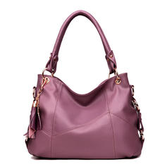Solid Color Shoulder Bags/Hobo Bags