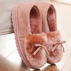 Femmes Suède Talon plat Chaussures plates avec Fausse Fourrure chaussures