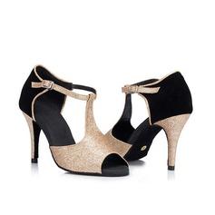 Жіночі Латинський Сандалі Ігристі блискітки з Гомілковий ремінець Сучасне взуття