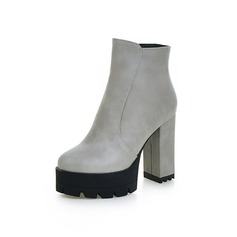 Dla kobiet Skóra ekologiczna Obcas Slupek Platforma Botki obuwie