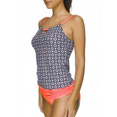 Élégante Colorful Sangle Tankinis Maillot de bain