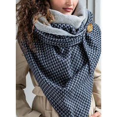 Plaid/Geometric Print Shawls/fashion/Comfortable Scarf
