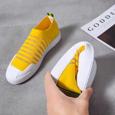 Bayanlar bez ağ gündelik Dış mekan Ile Oymak ayakkabı