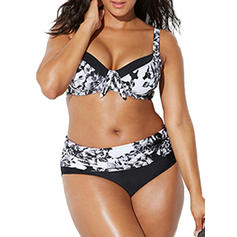 Colorful Underwire Push Up Strap Elegant Plus Size Bikinis Swimsuits