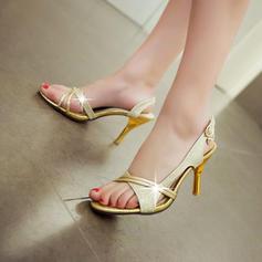 Women's Leatherette Stiletto Heel Sandals Pumps With Buckle shoes