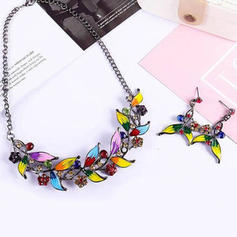 Leaves Shaped Alloy Rhinestones Women's Jewelry Sets (Set of 2)