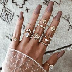 Unic rafinat Elegant Aliaj Seturi de bijuterii Inele (Set of 12 pairs)