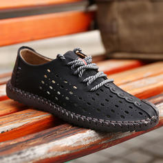 Lace-up Casual Real Leather Men's Men's Loafers
