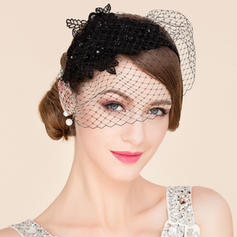 Dames Beau Fil net Chapeaux de type fascinator/Chapeaux Tea Party