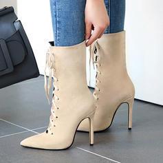 Women's Suede Stiletto Heel Pumps Boots shoes