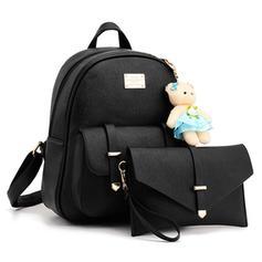 Girly PU Bag Sets/Backpacks