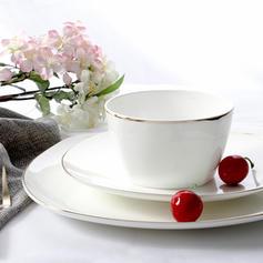 Striped Novelty Porcelain Dinnerware Sets (Set of 3)