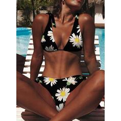 Kukka Hihna Vintage Tuore Bikinit Uima-Asut