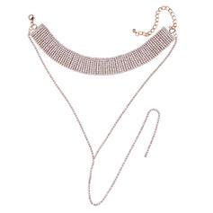 Hermoso Aleación Diamantes de imitación Señoras' Collar de la manera