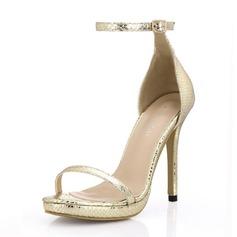 Femmes Similicuir Talon stiletto Sandales Plateforme chaussures