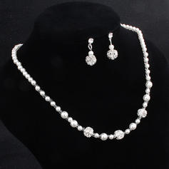 Shining Alloy With Imitation Pearl Jewelry Sets (Set of 2)
