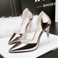 Women's PU Stiletto Heel Pumps With Jewelry Heel shoes