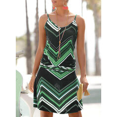 Print Sleeveless A-line Above Knee Casual Dresses