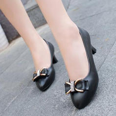 Women's PU Low Heel Pumps With Bowknot shoes